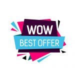 Wow Best Offer Lettering Origami Poster